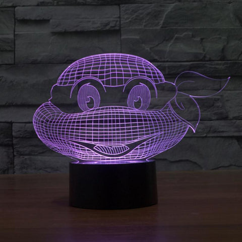Ninja Turtle -  3D LED Lamp - Lamp