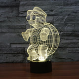 Cool Dude Tortoise - 3D LED Lamp - Lamp