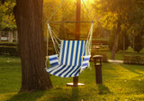 Fine Living - Hammock Chair - Blue/White Stripe