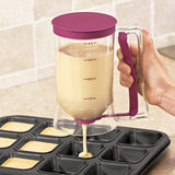 Batter Dispenser - Fine Living - Matte Berry