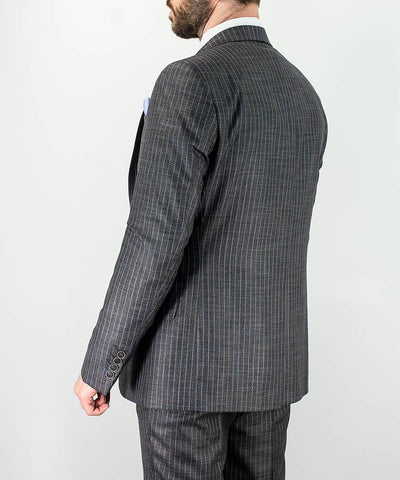 York Grey Pin Stripe Three Piece Suit
