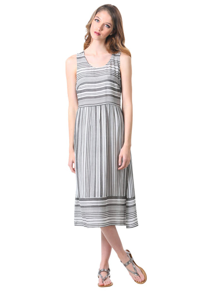 Striped Hampton Midi Sun Dress