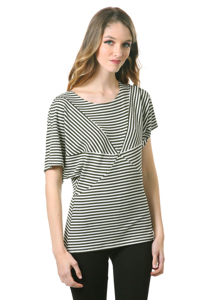 Striped Star Dolman Top