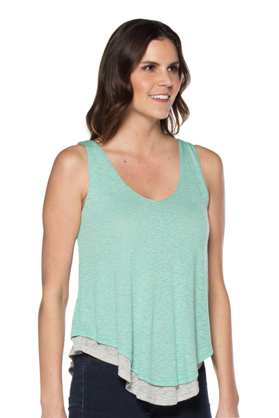 Mint/Grey Tank Top