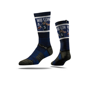 Russell Wilson Play Action Navy Crew Socks