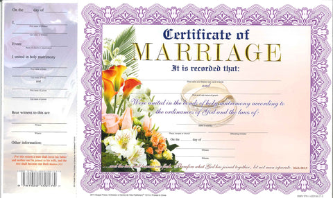 12114 Certificate of Marriage