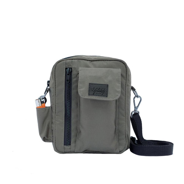 shoulder bag bolsa transversal verde nylon Glitch