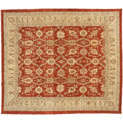 Red and Beige Pakistani Rug