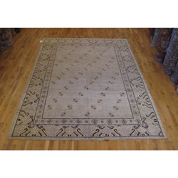 Brown and Beige Khotan Rug