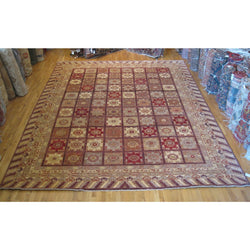 Brown and Red Tiles Rug