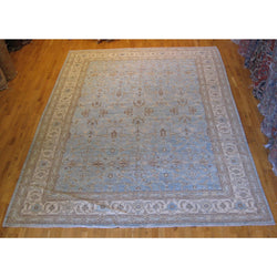 Blue and Ivory Pakistani Rug