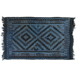 Blue Tribal Reversible Kilim Flatweave