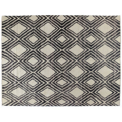 Black and Ivory Diamonds Area Rug