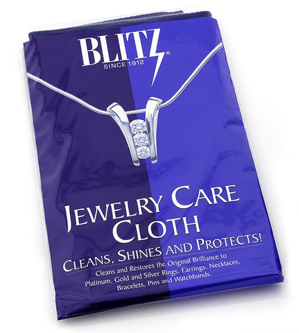 "Extra Large Blitz 2-Ply Jewelry Care Cloth, Used by Professionals! Cleans, Shines and Protects! For Gold, Silver, and Platinum. 12""x15"""