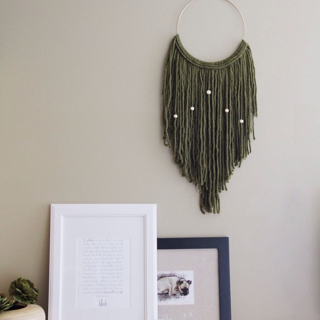 Popular Home Decor: Fiber Art + Macrame Wall Hangings