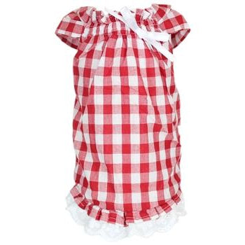 Parisian Pet Red Gingham Tunic Country Dog Dress-Paws & Purrs Barkery & Boutique