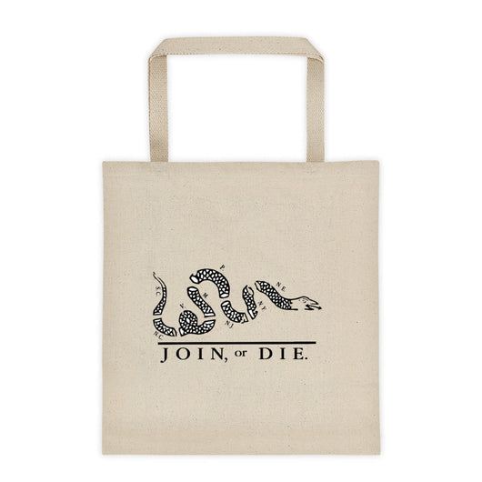 Join or Die Tote bag
