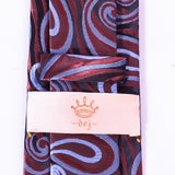 Dej 7cm Brown Patterned Silk-Jacquard Tie,