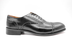 Dej Black Quarter Brogues