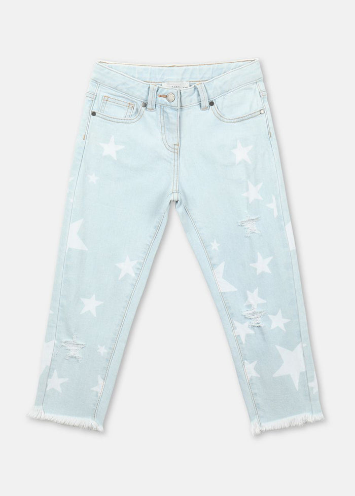 DISTRESSED MINI STAR JEANS