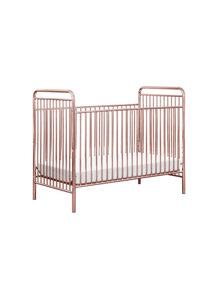JUBILEE 3 IN 1 CONVERTIBLE CRIB - PINK CHROME