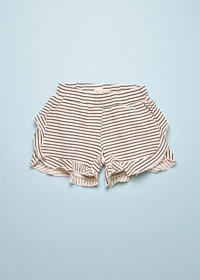 RUFFLE STRIPE SHORTS