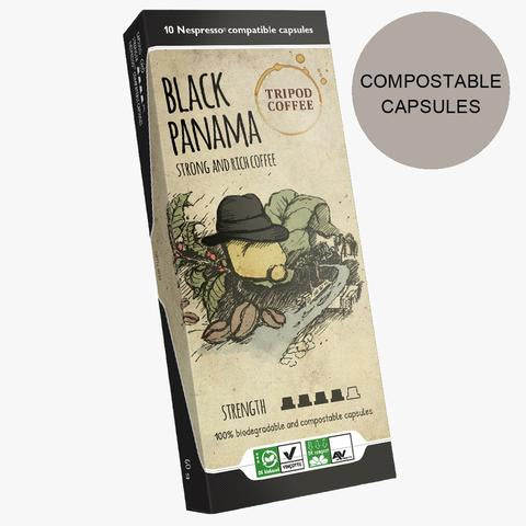 Black Panama Compostable Capsules
