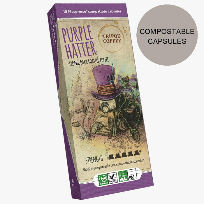 Purple Hatter Compostable Capsules