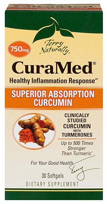 Europharma-Terry Naturally CuraMed BCM-95 Curcumin -Better than Tumeric 750 mg 30 Softgels
