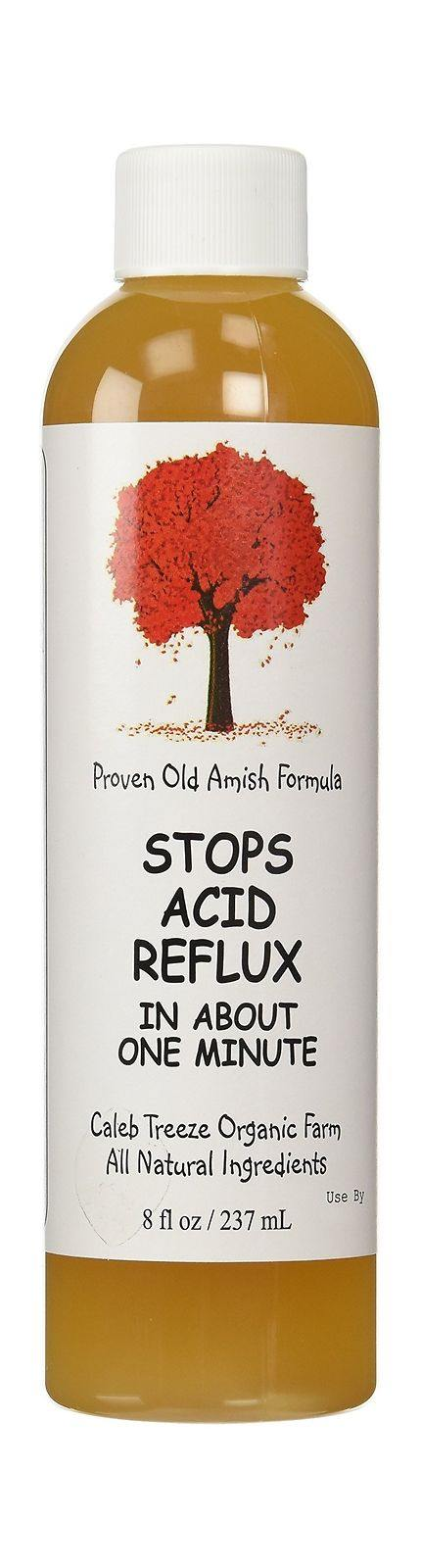 Caleb Treeze - Old Amish Remedy-Stops Acid Reflx in about a minute - 8 fl oz (12 Pack)