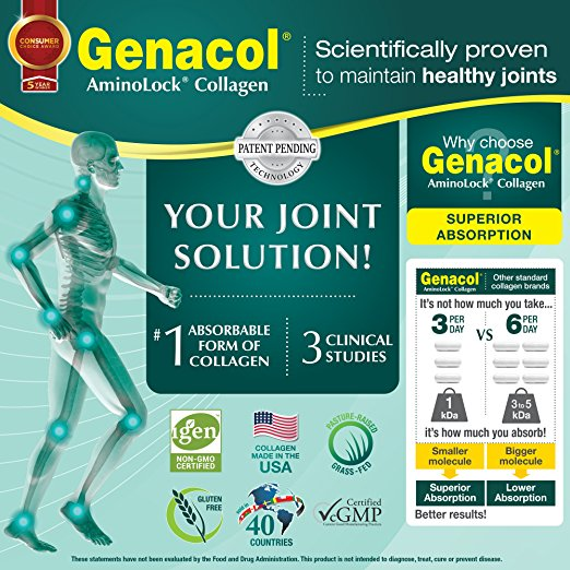 GENACOL LIQUID Collagen for Back, Knees, Hands Joints and Muscles Support and Joint Health Supplement