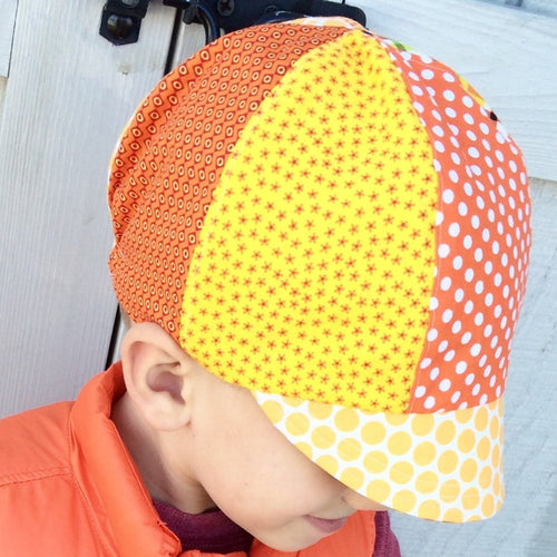 Boys Biker Hat, Reversible // Color Palette Choices