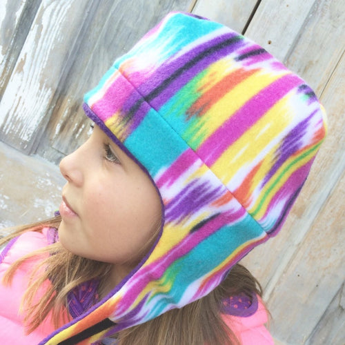 Reversible Kids Fleece Hat, Bomber Hat for Children, Ear Cover Hat for Kids