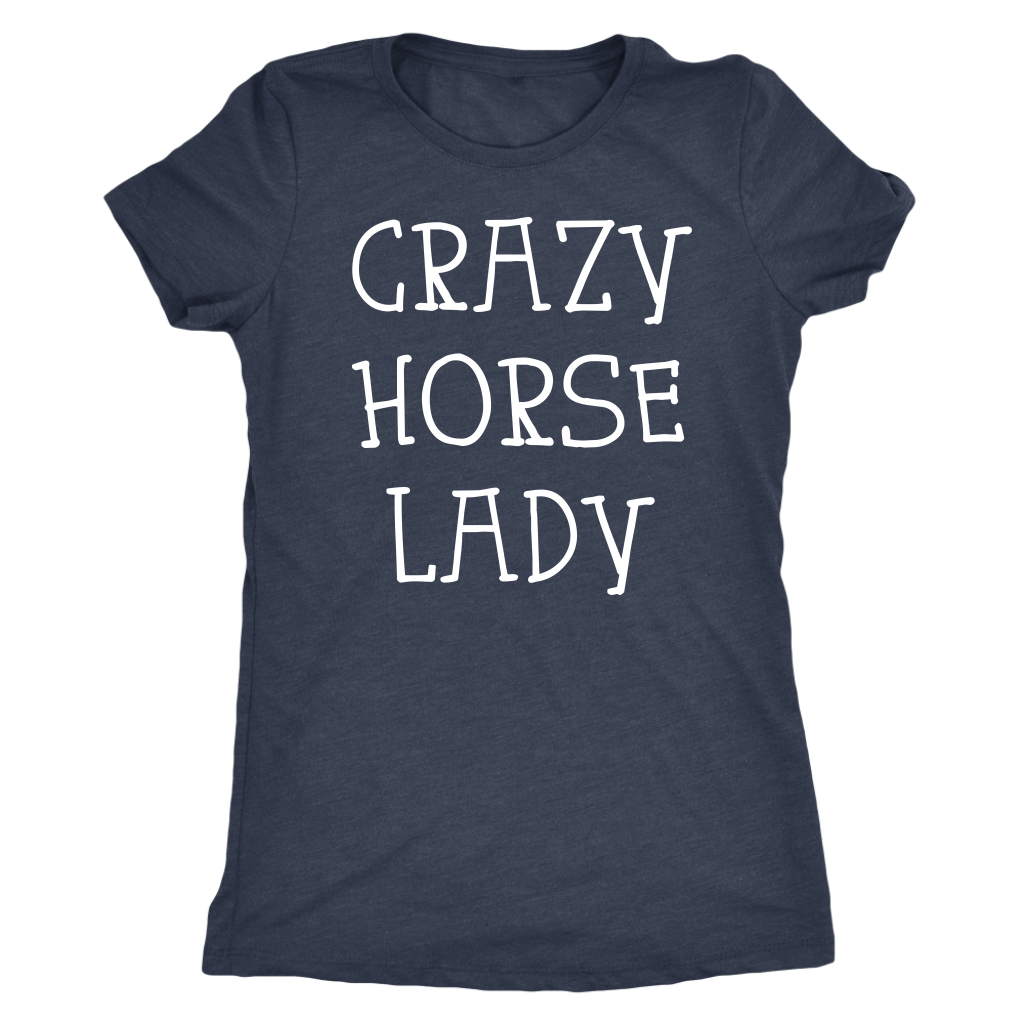 CRAZY HORSE LADY Ladies T-Shirt