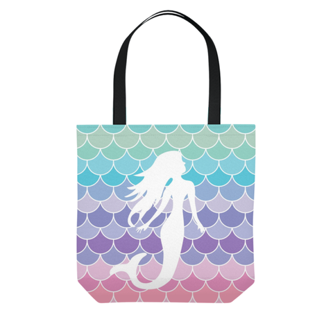 Mermaid Scales Pastel Beach Tote Bag