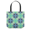 Image of Batik Polynesian Style Blue Green Tote Bags