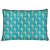 Image of Teal Seahorse Coastal Dog Pet Bed