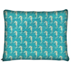 Image of Seahorse Teal Dog Bed