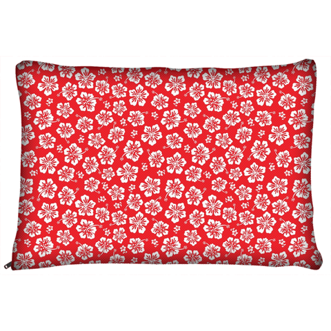 Hawaiian Hisbicus Flower Pattern Dog Bed