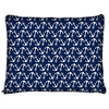 Image of Nautical Anchor Navy Blue Dog Bed