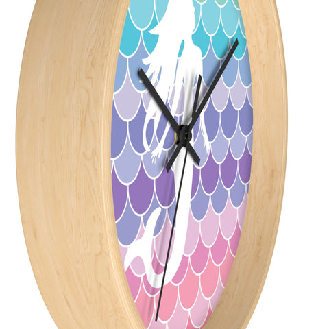 Mermaid Scales Beach Wall clock