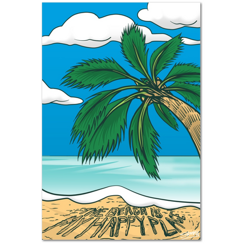 Beach Is My Happy Place Premium Canvas Gallery Wrap