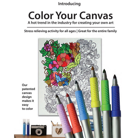 Hello Summer Color Your Art Canvas
