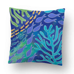 Coral Life Indoor Throw Pillow Cover