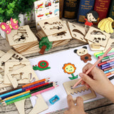 Children Colorful Wood Creative Drawing Tools 050619