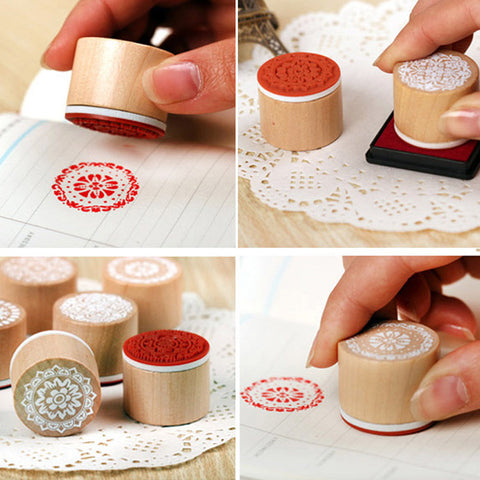 Retro Flower Stamps (6 pcs)