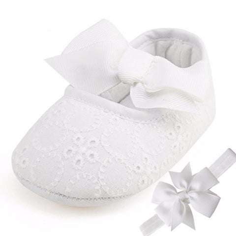 Fashion Butterfly-knot Baby Shoes with Headband (Set)