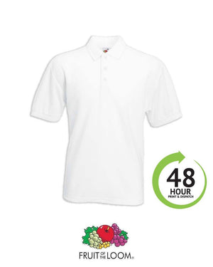 Fruit of the Loom 65/35 Polo Shirt - Print Chimp