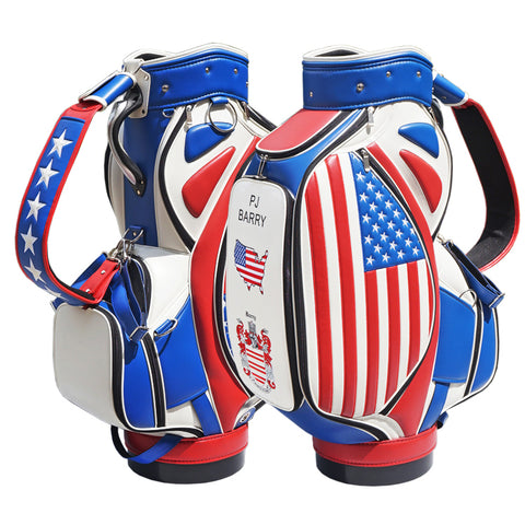 Premium USA Stripes Custom Tour Staff Bag - The Back Nine Online