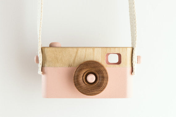 Pink Wooden Camera Toy